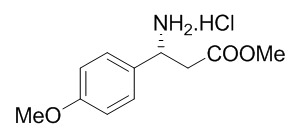 (R)-Methyl 3-Amino-3-(4-methoxyphenyl)-propanoate Hydrochloride Salt