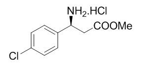 (S)-Methyl 3-Amino-3-(4-chlorophenyl)propanoate Hydrochloride Salt